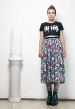 80s vintage poppy printed midi skirt - $37.38