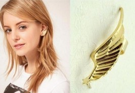 Vintage Wing Shaped Clip Single Earring(Gold) - $5.99
