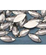 20x9mm Crystal A01 Flat Back Navette Acrylic Jewels High Quality Pro Gra... - $4.69