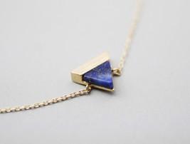 Lapis Lazuli Triangle Gemstone Pendant Bracelet - $14.00