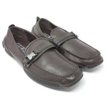 Guess Mens MG Dover Driving Loafers Shoes Brown Buckle Slip-On Moc Toe 7... - $24.87