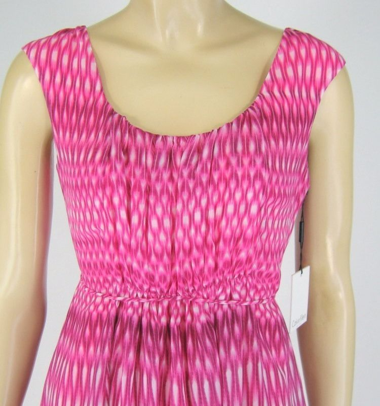 Calvin Klein Pink Dress Sleeveless Polyester Size 6P New 9395