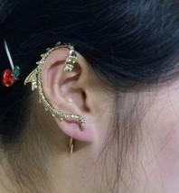 Vintage Punk Style Dragon Stud Earring(Antique Bronze) - $5.99