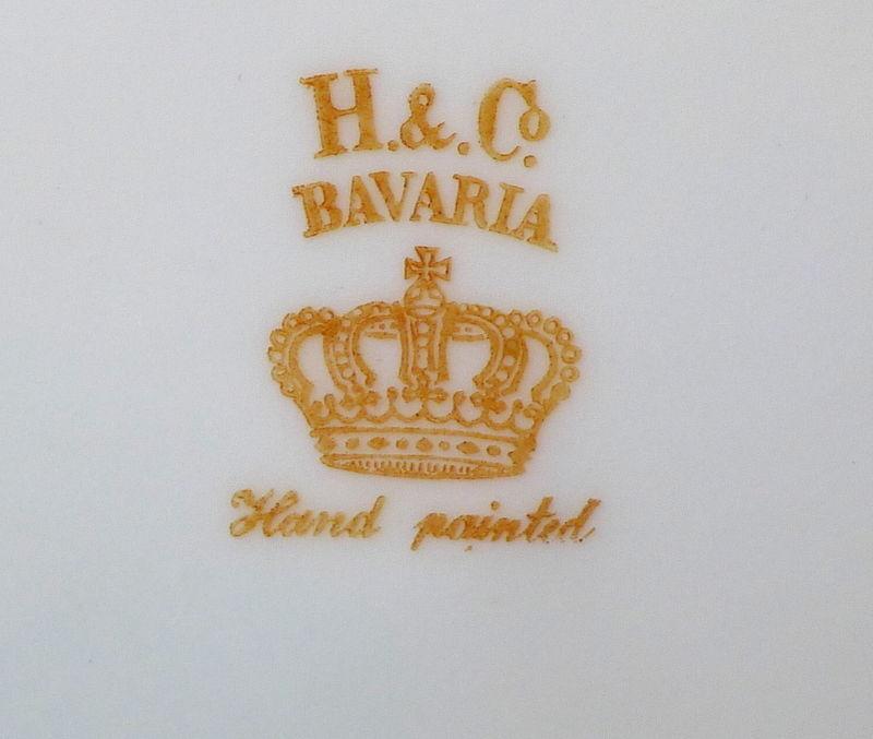 Sailing Ship Horizon Plate Heinrich Bavarian  H & G