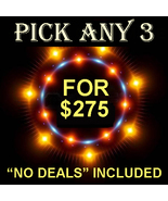 MON-TUES PICK 3 IN THE STORE $275 INCLUDES NO DEALS MYSTICAL TREASURE - $0.00