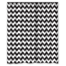 Chevron #02 Shower Curtain Waterproof Made From Polyest - $29.07+