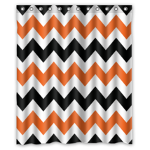 Chevron #04 Shower Curtain Waterproof Made From Polyest - $29.07+