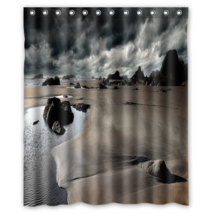Clouds Landscapes Beach Rocks #01 Shower Curtain Waterproof Made From Polyest - $29.07+