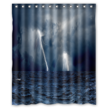 Clouds Waves Sea Strorm Ocean #01 Shower Curtain Waterproof Made From Po... - $29.07+