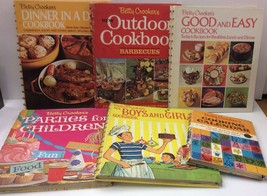 Betty Crocker Vintage Cookbooks 60's 70's Spiral Bound Lot Of 6 With Flaws - $24.74