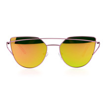 Retro Modern Flat Mirror Lens Sunglasses Womens Designer Fashion UV 400 - $12.95