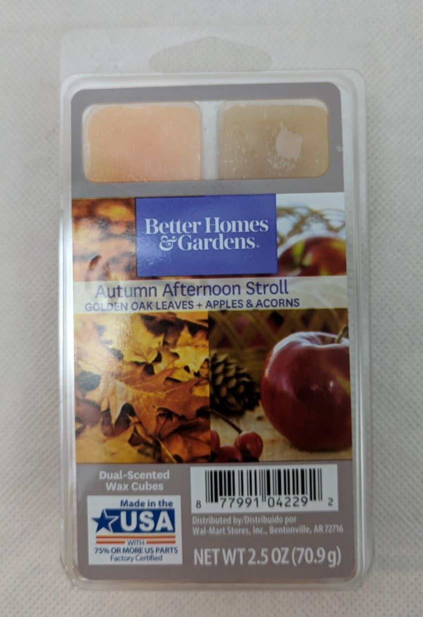 Better Homes & Gardens Autumn Afternoon Stroll Fall Fragrance Cubes Scented Wax