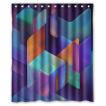 Cubes Abstract Geometri #01 Shower Curtain Waterproof Made From Polyester - $29.07+