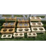 "15"" TALL DOG BONE ELEVATED FEEDER Amish Handmade  2 2QT Paw Print Bowls ... - $93.07"