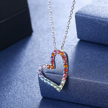 Sterling Silver Pink Mother Of Pearl Floral Filigree Heart Link Chain Ne... - $19.99