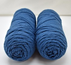Red Heart Super Saver Worsted Medium Weight Yarn-2 Skeins Windsor Blue No Labels - $12.30