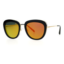 Vintage Retro Sunglasses Womens Dual Square Frame Mirror Lens UV400 - $12.95