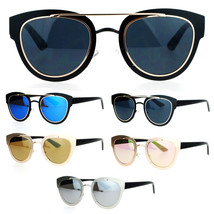 SA106 Double Frame Metal Horn Rim Retro Boyfriend Style Sunglasses - $12.95