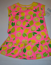 Carter's Girls Pullover Top Tunic  Sizes 4 or  5 or 6  NWT Lemon Lime - $11.69