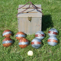 Bocce Set Game Sport Equipment 113mm Balls Case 10 Piece Tournament Backyard Fun