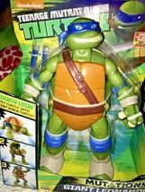 Teenage Mutant Ninja Turtles Mutations Giant Leonardo Pet Turtle to Ninj... - $34.99