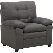 Padded Office Chair Microfiber Cushioned Arm Tufted Living Room Furnitur... - €149,21 EUR