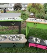 "Medium ELEVATED DOG FEEDER ~ 342 CUSTOM COMBOS Dogs Amish USA, 8¾"" Tall - $100.94"