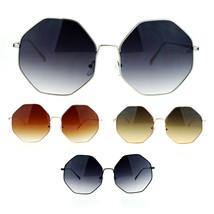 SA106 Womens Gradient Octagonal Groovy Sunglasses - $12.95