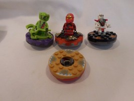 LEGO Ninjago Spinner Lot of 3 Ninjas Figures w/ Spinners  plus one Spinner Maste - $17.29