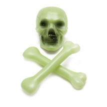 Plastic Glow in the Dark Skull and Cross Bones Halloween Skeleton Decora... - $154,80 MXN