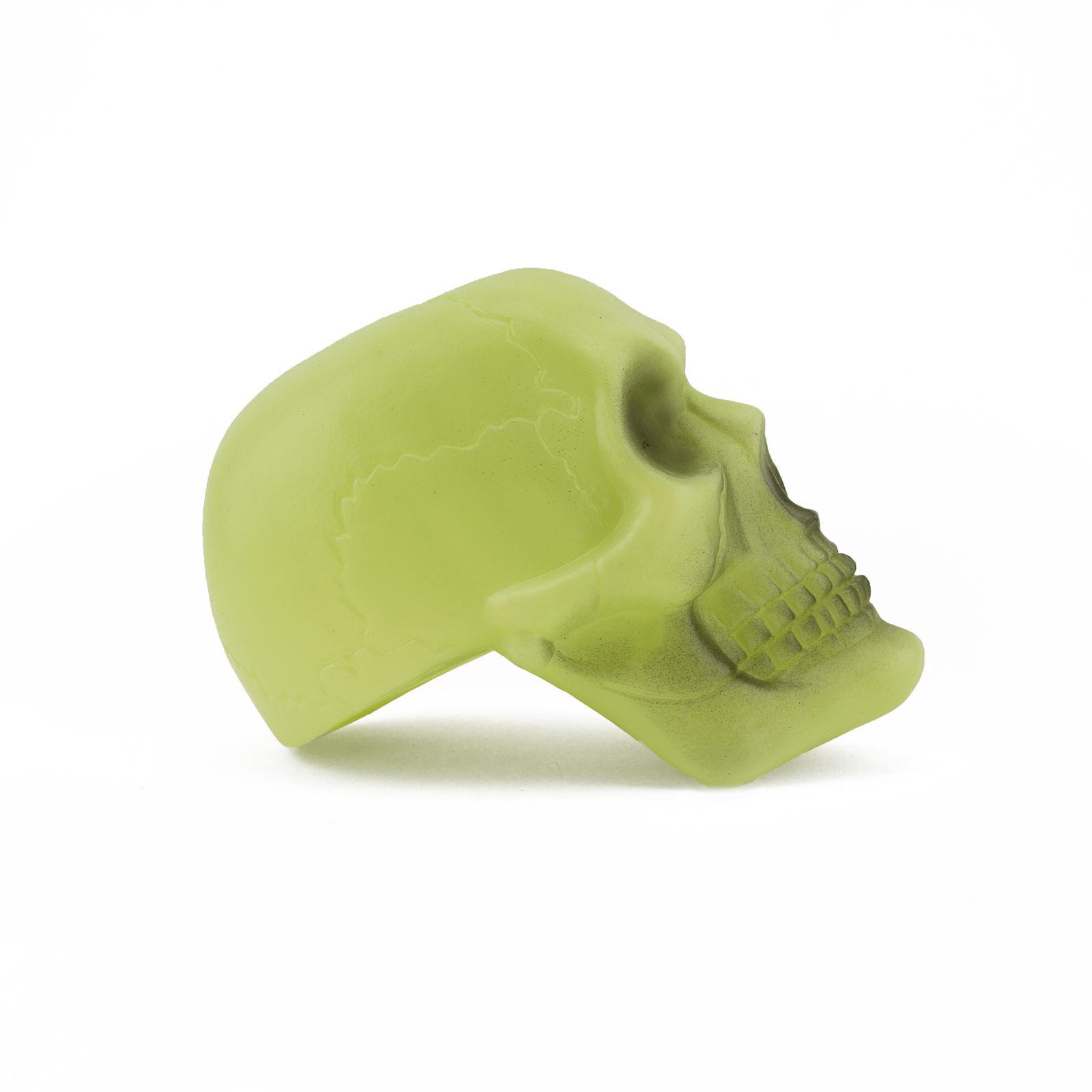 Plastic Glow in the Dark Skull and Cross Bones Halloween Skeleton Decoration Set