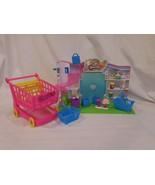 Miniature SHOPKINS SMALL MART SET Smallmart Grocery PLAYSET Cart + Bags ... - $26.41