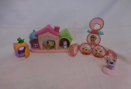 Littlest Pet Shop Lot Baby pink Puppy Dog House Petriplets Triplets plus... - $11.93