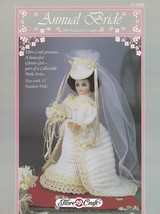 1993 Edition Annual Bride, Fibre Craft Doll Clothes Crochet Pattern Book FCM323 - $3.95