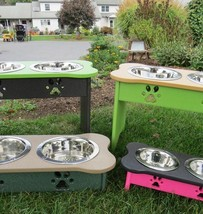 "Elevated Poly Dog Feeder ~ 342 Custom Combos ~ 15"" Tall For Large Dogs Amish Usa - $107.91"