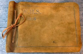 Westbrook Maine High School Class of 1916 Leather Photo Album - $249.95