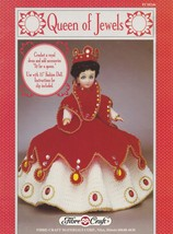 Queen of Jewels, Fibre Craft 15 inch Doll Clothes Crochet Pattern Booklet FCM246 - $4.95