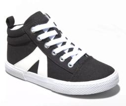 Cat & Jack Ragazze' Quincey Nero Crema Mid-Top con Lacci Scarpe da Tennis Nwt