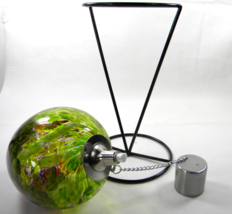 "HD22 OIL LAMP OUTDOOR ENTERTAINMENT TABLE TOP RED GREEN GLASS 10.5"" TALL... - $22.99"