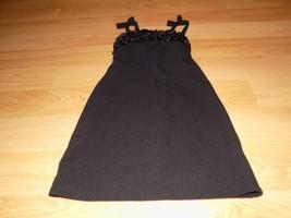 Girl's Size 7 Jenny & Me Solid Black Ruffled Top Sleeveless Dressy Dress... - $22.00