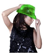 Fun Central LED Sequin Fedora - Green - $11.99