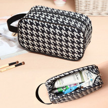 Hot Sales New Unisex Plaid Grooming Makeup Toiletry Case Camping Travel Wash Bag - $5.86