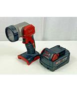 Milwaukee M18 18v 48-11-1828 XC 3.0ah Battery & 2735-20 LED Worklight Fl... - £28.63 GBP