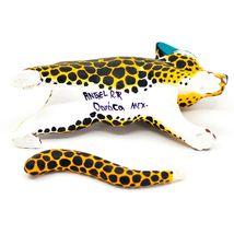 "Handmade Alebrijes Oaxacan Painted Wood Folk Art Leopard Jaguar 7"" Figurine image 5"
