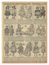 TOY Dolls AD Sets Singles 18 Character Dolls Shown Described Original Pe... - $14.99