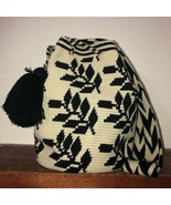 Authentic 100% Wayuu Mochila Colombian Bag Large Size Exclusive black l... - $99.00