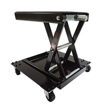 Apextreme 1100 LB Motorcycle Lift Center Scissor Lift Jack with Dolly Wide Flat