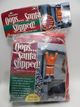 Oops Santa Slipped Hanging ON CHRISTMAS Decoration Indoor Outdoor 6 feet... - £32.54 GBP