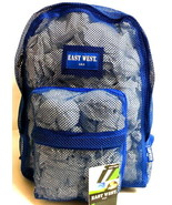 Mesh Backpack ROYAL BLUE  Pack See Through School Approved Bag Clear Spo... - $15.99