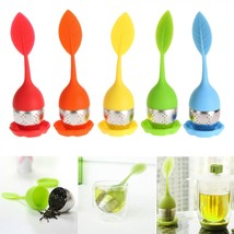 Sweet Leaf Silicone Tea Infuser 5 Color Strainer Filter Spice Herbal Dif... - €6,86 EUR